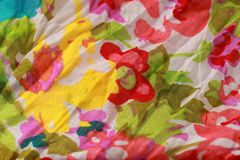 Spring flower fabric background. Spring flower fabric macro shot royalty free stock photography