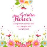 Spring flower garden frame Royalty Free Stock Images