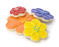 Spring Flower Gourmet Cookies Royalty Free Stock Photo