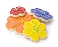 Spring Flower Gourmet Cookies. Freshly Baked Spring Flower Gourmet Cookies Royalty Free Stock Photo
