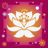 Spring flower healing yantra Royalty Free Stock Photography