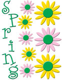 Spring flower illustration Royalty Free Stock Images