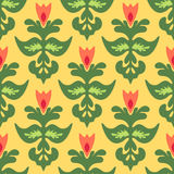 Spring Flower iSeamless  Pattern Vector Stock Photo
