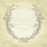 Spring flower laurel branches. Hand drawn design elements. Vecto Royalty Free Stock Images