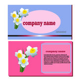 Spring flower narcissus for cosmetics logo Royalty Free Stock Images