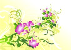 Spring flower ornament. (image can be used for printing or web Royalty Free Stock Photo