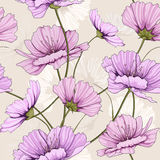 Spring flower pattern. Thais is illustration of flower pattern seamless Royalty Free Stock Image
