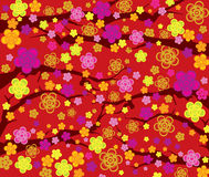 Spring flower seamless pattern Stock Images