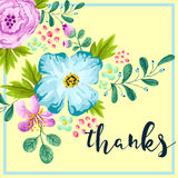 Spring Flower Thank You Card Royalty Free Stock Image