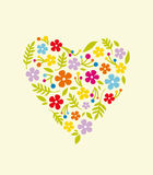 Spring flower valentine Royalty Free Stock Images