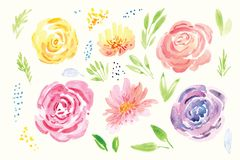 Spring flower watercolor clip art stock illustration illustration spring flower watercolor clip art royalty free illustration mightylinksfo