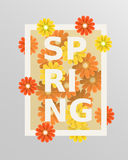 Spring flower and weeding design elements. Vector illustration. Royalty Free Stock Photo
