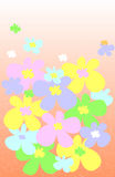 Spring flowers. Illustration of colorful spring flowers Royalty Free Stock Photography