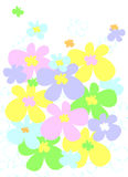 Spring flowers. Illustration of colorful spring flowers Stock Photo