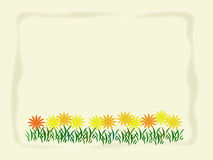 Spring Flowers. Cream background with faded border and flowers across the bottom Royalty Free Stock Photography