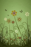 Spring flowers. Abstract flower background vector illustration