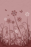 Spring flowers. Abstract flower background stock illustration