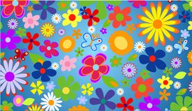 Spring flowers royalty free illustration
