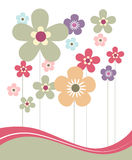 Spring Flowers. In Pastel Colors Stock Photos