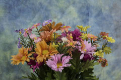 Spring flowers. Assorted spring flowers on a textured back ground Stock Photo