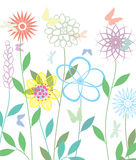 Spring flowers, vector Stock Images
