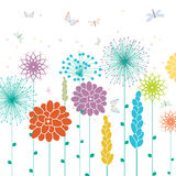Spring flowers, vector Royalty Free Stock Image