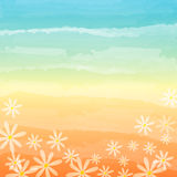 Spring flowers in blue peach background Royalty Free Stock Photography