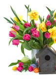 Spring flowers boquet for easter Royalty Free Stock Image
