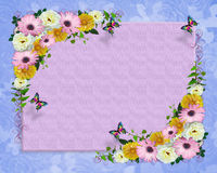Spring flowers border template Stock Images