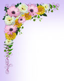 Spring flowers border template royalty free stock photography
