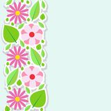Spring flowers border. Vector illustration. Royalty Free Stock Images