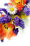 Spring flowers bouquet Stock Photography
