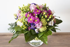 Spring flowers bouquet - arrangement - Stock Image