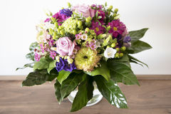 Spring flowers bouquet - arrangement - Stock Photo
