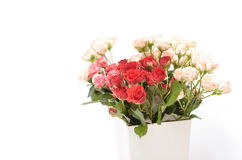 Spring flowers bouquet. Bouquet of colorful spring flowers over a white background Royalty Free Stock Image