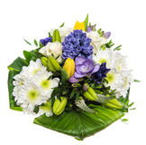 Spring Flowers Bouquet. Hyacinth, Roses, Tulips Stock Photo