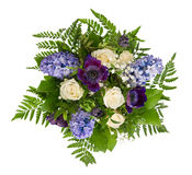 Spring Flowers Bouquet. Roses, Hyacinth, Ranunculus Royalty Free Stock Photography