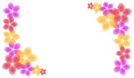 Spring Flowers Corner Piece Borders Stock Image