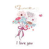 Spring flowers and daisy flower bouquet vector Stock Photography
