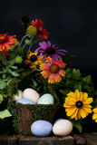 Spring Flowers Easter Basket 2 Royalty Free Stock Images