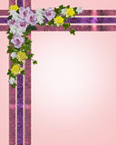 Spring flowers Easter border Royalty Free Stock Images