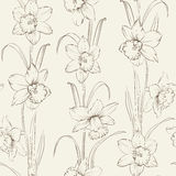 Spring flowers fabric seamless pattern Royalty Free Stock Image