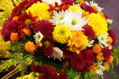 Spring flowers, flower basket Royalty Free Stock Photo