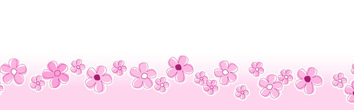 Spring flowers footer / header Royalty Free Stock Images