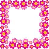 Spring flowers frame. Vector illustration Stock Photography