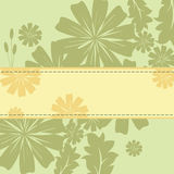 Spring Flowers Frame. Background with green and yellow flowers. EPS 10 Royalty Free Stock Photos