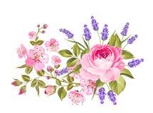Spring flowers garland. Stock Photos