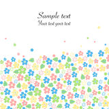 Spring flowers greeting card vector background Stock Image