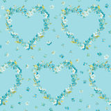Spring Flowers Heart Background Stock Photo