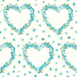 Spring Flowers Heart Background Royalty Free Stock Photo